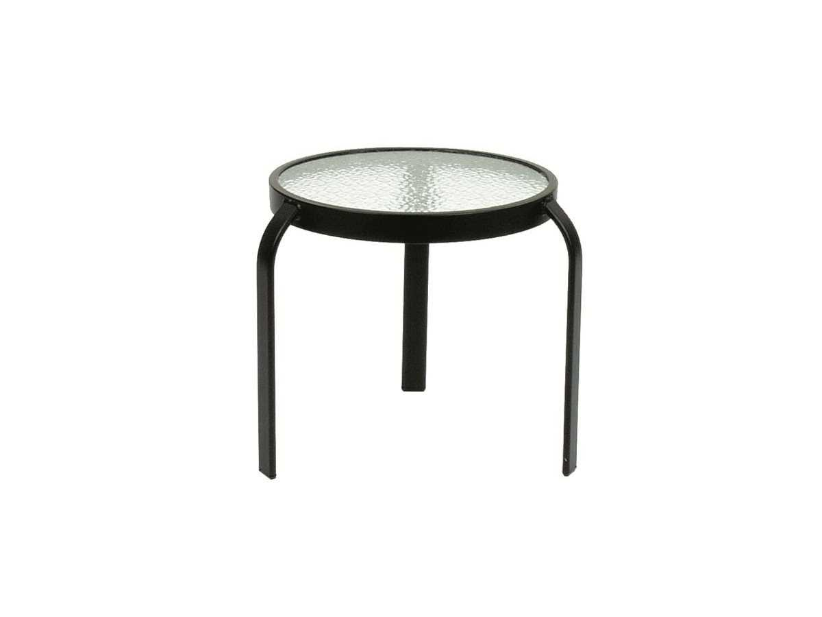 Suncoast Cast Aluminum 183939 Round Acrylic Top End Table 318a