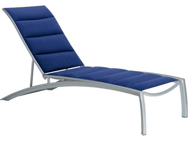 Tropitone South Beach Sling Chaise Tropitone South Beach Padded Sling Aluminum Pool Lounge