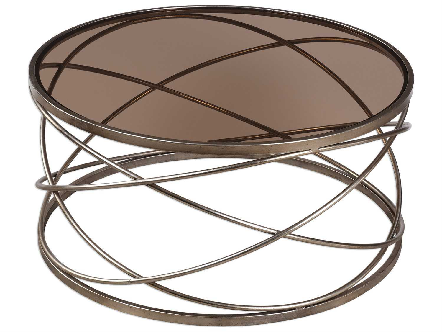 Uttermost Grace Feyock Marella Silver Iron Coffee Table