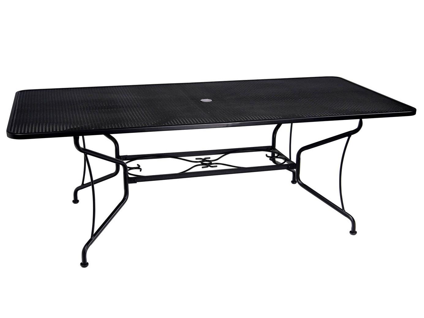 Smashing Hover To Zoom Woodard Wrought Iron X Rectangular Spoke Table Sale Wrought Iron Table Brackets Umbrella Wrought Iron Table Base houzz-02 Wrought Iron Table