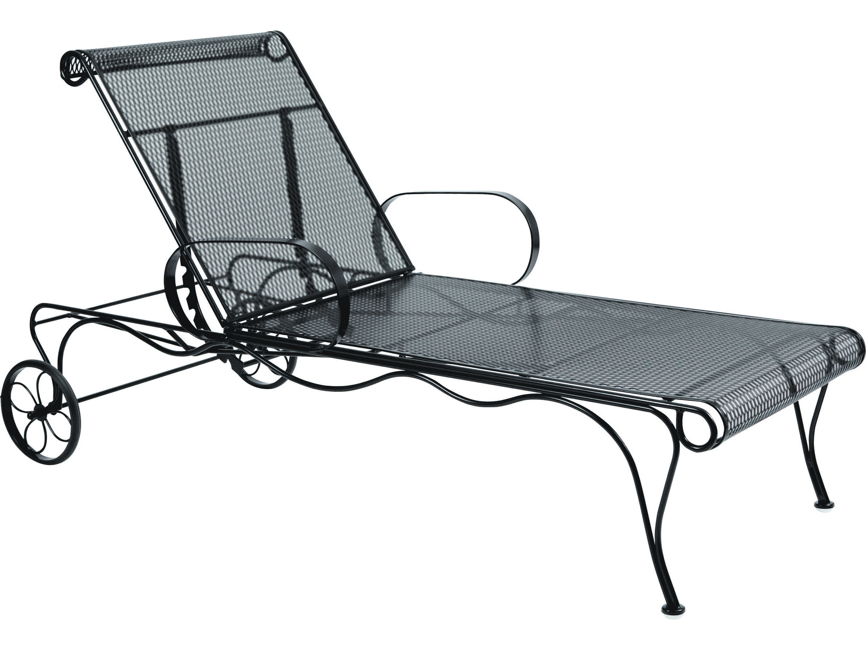 Woodard Tucson Wrought Iron Chaise 1g0070