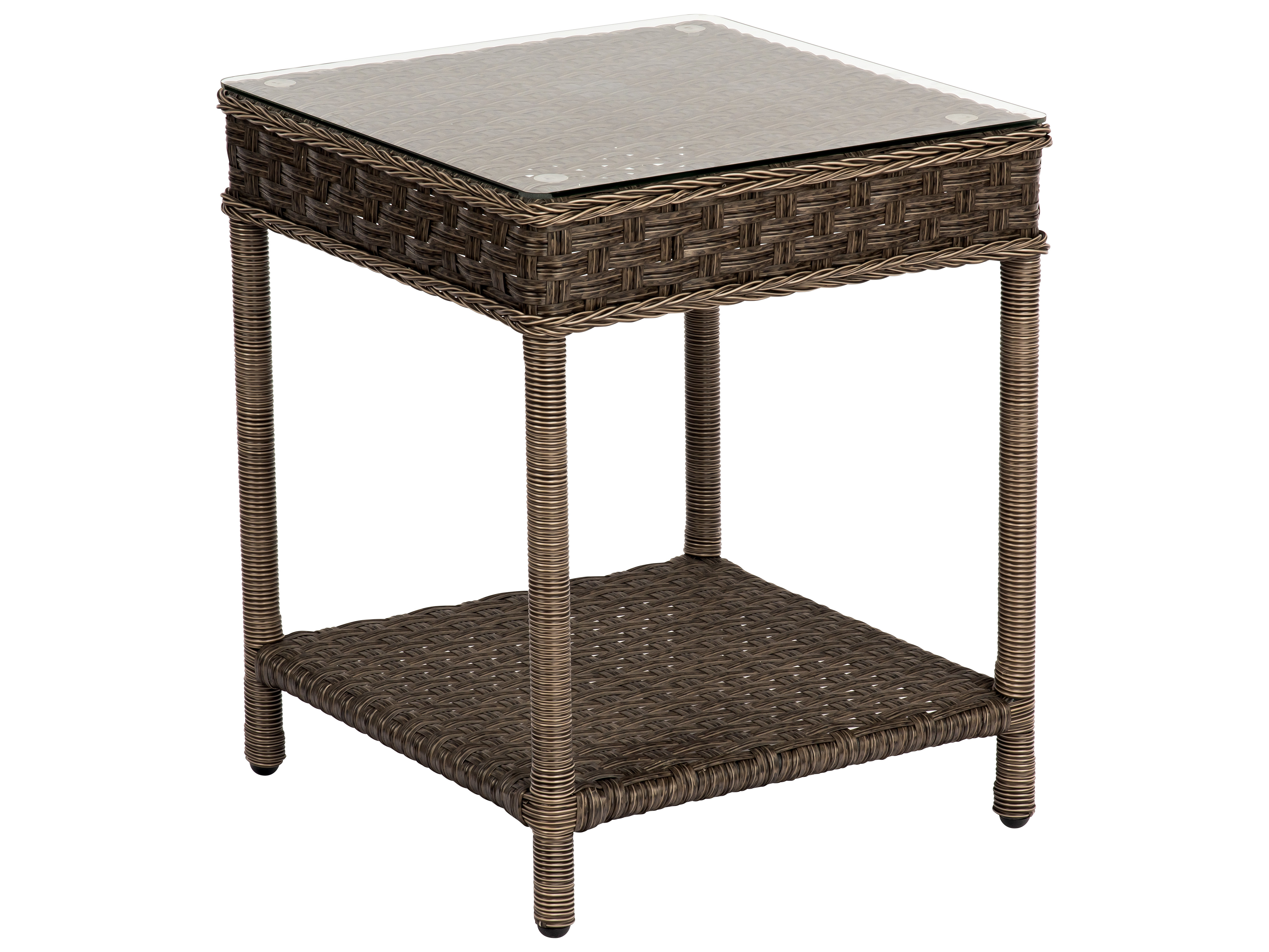 Square Glass End Tables Woodard Savannah Wicker 20 Square Glass Top End Table