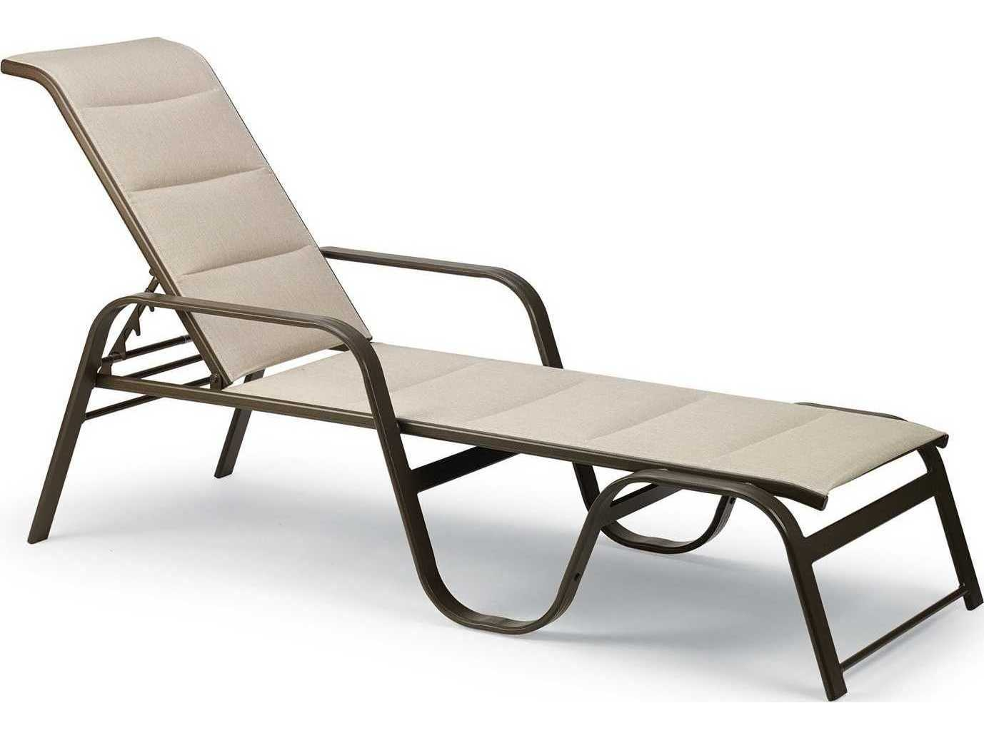 Winston Key West Padded Sling Aluminum Stackable Chaise