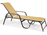 Winston Key West Sling Aluminum Arm Stackable Chaise ...