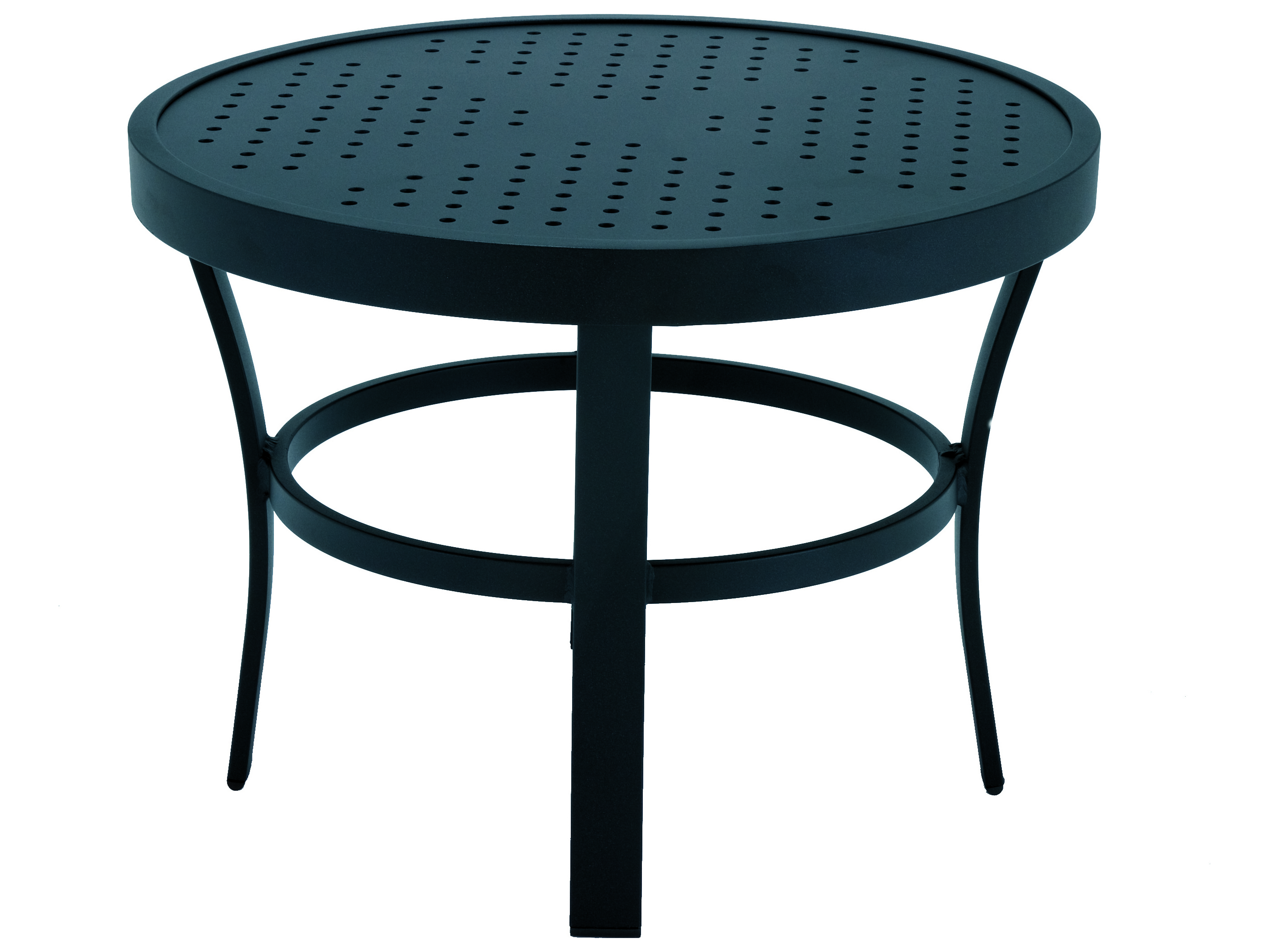 Winston Stamped Aluminum 243939 Round Metal End Table M8324 St