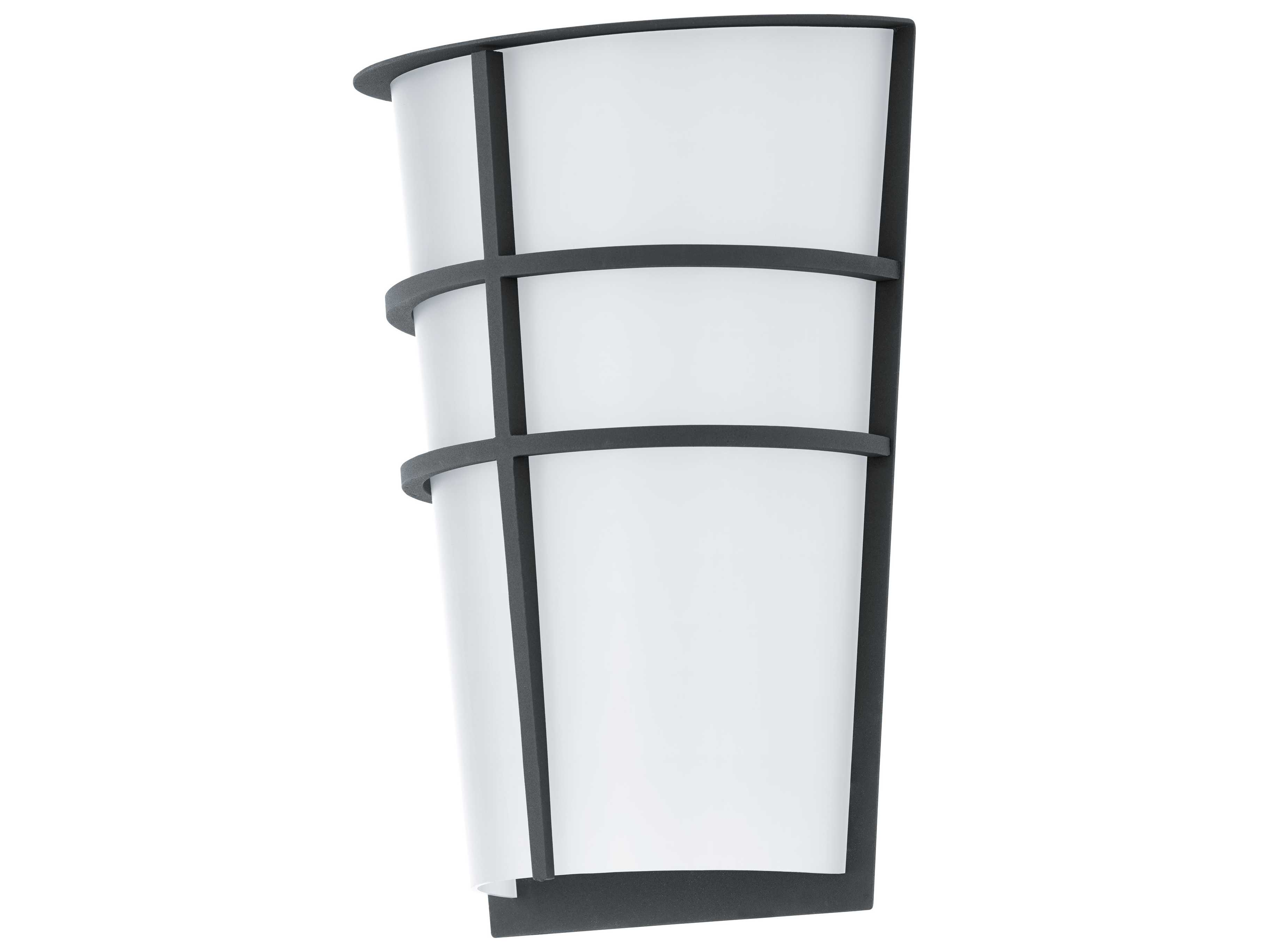 Eglo Riga Led Outdoor Wall Light Eglo Breganzo Anthracite Two Light Led Outdoor Wall Light