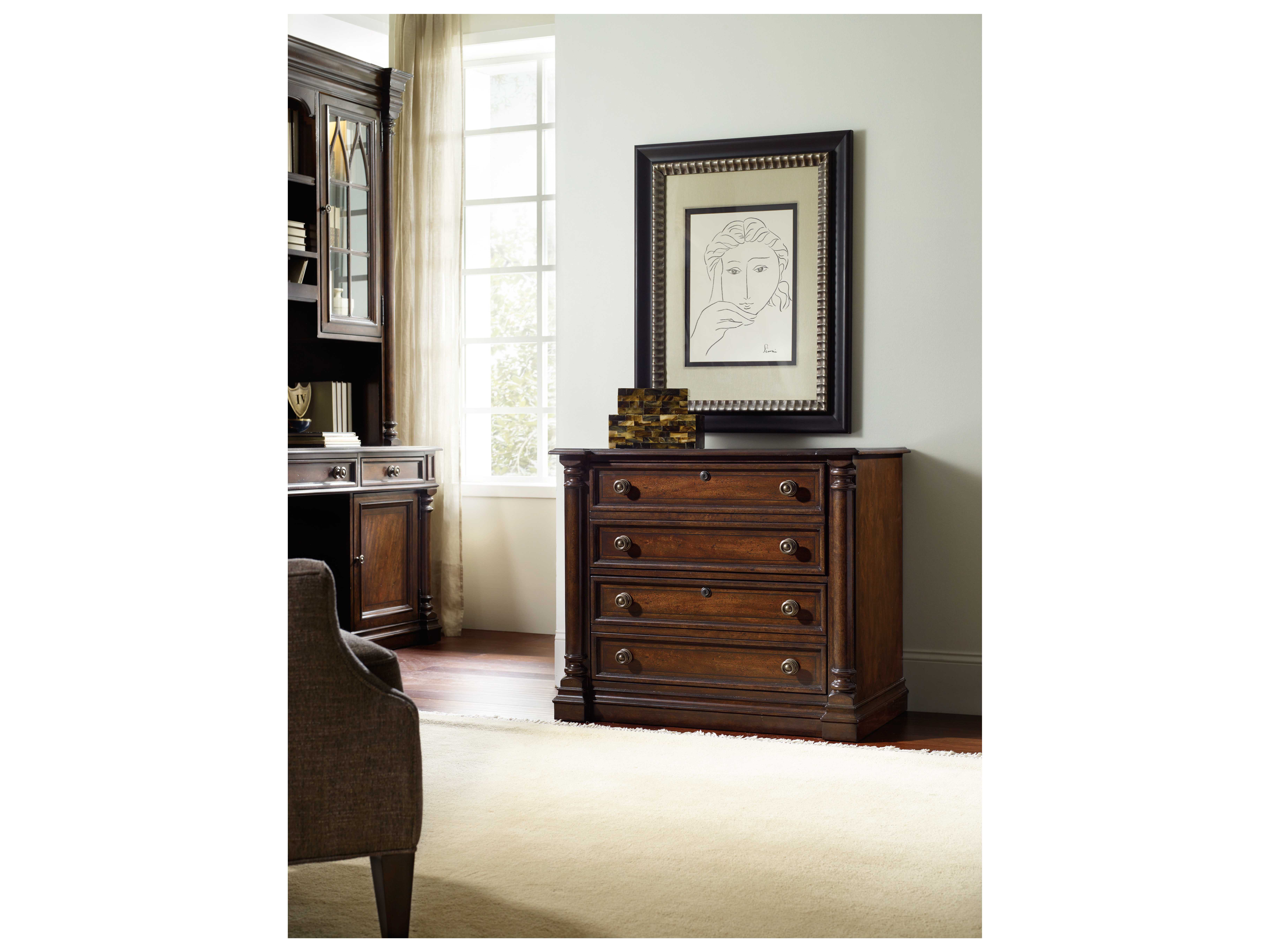 Hooker Furniture Leesburg Rich Traditional Mahogany Lateral File Cabinet Hoo538110466