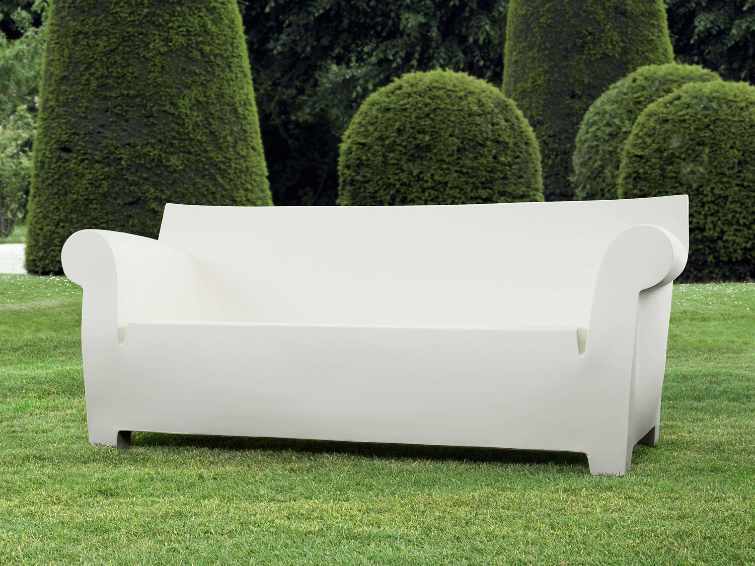 Kartell Sofa Kartell Bubble Club Zinc White Sofa