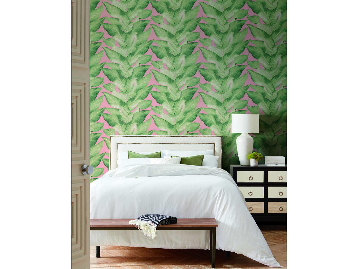 York Wallcoverings Modern Heritage 125th Anniversary Peach Green Beverly Hills Wallpaper Sold In 2 Ywnv5544