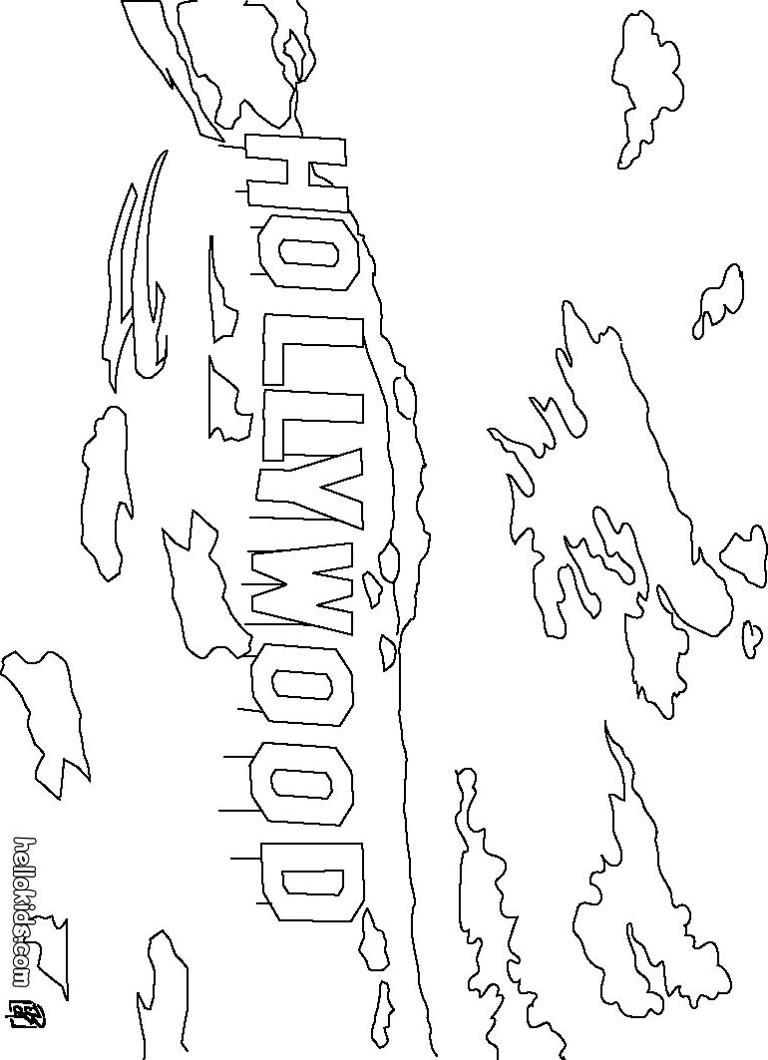 Mount lee hollywood zum ausmalen