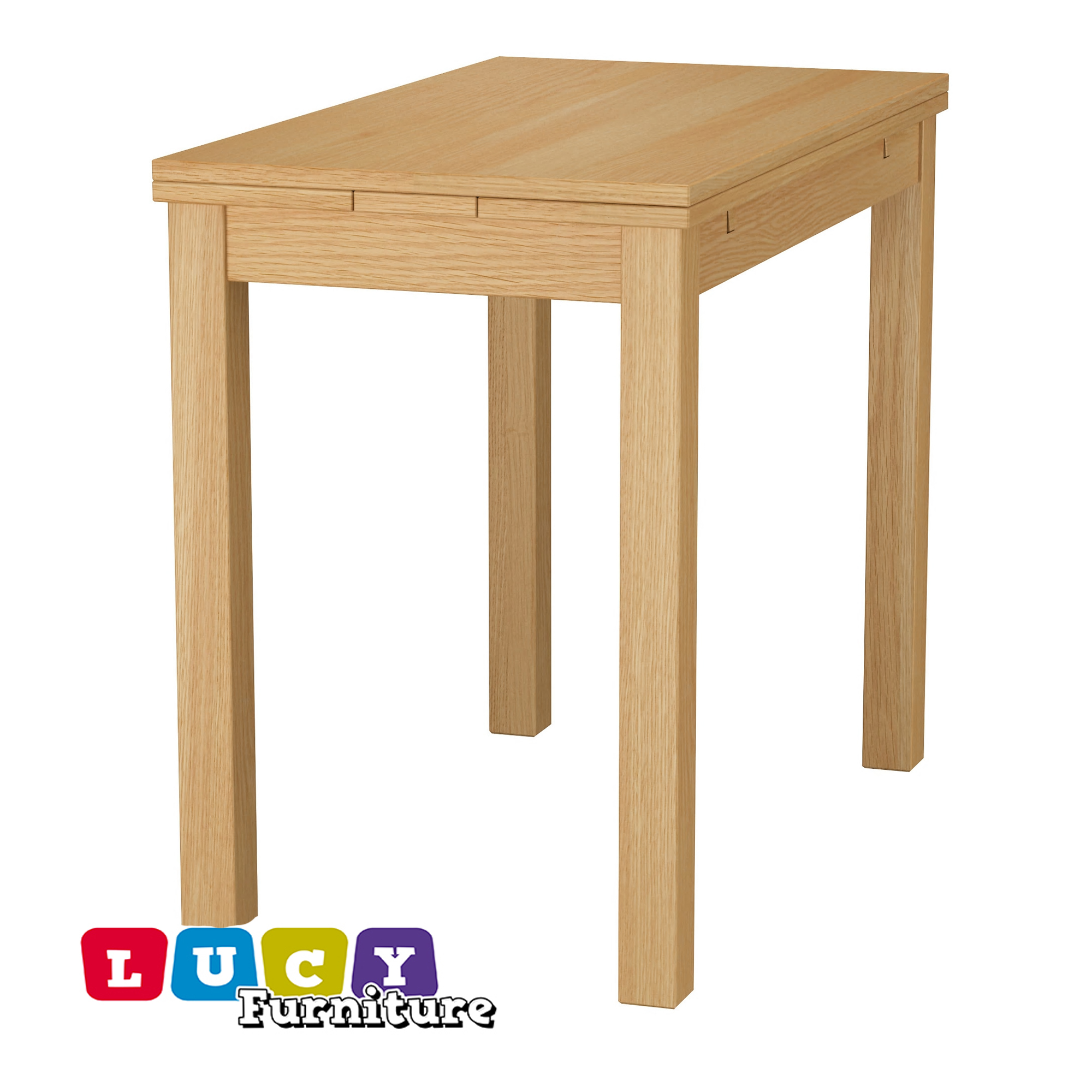 Ikea Bjursta Bank Details About Ikea Bjursta Extendable Table Oak Veneer New