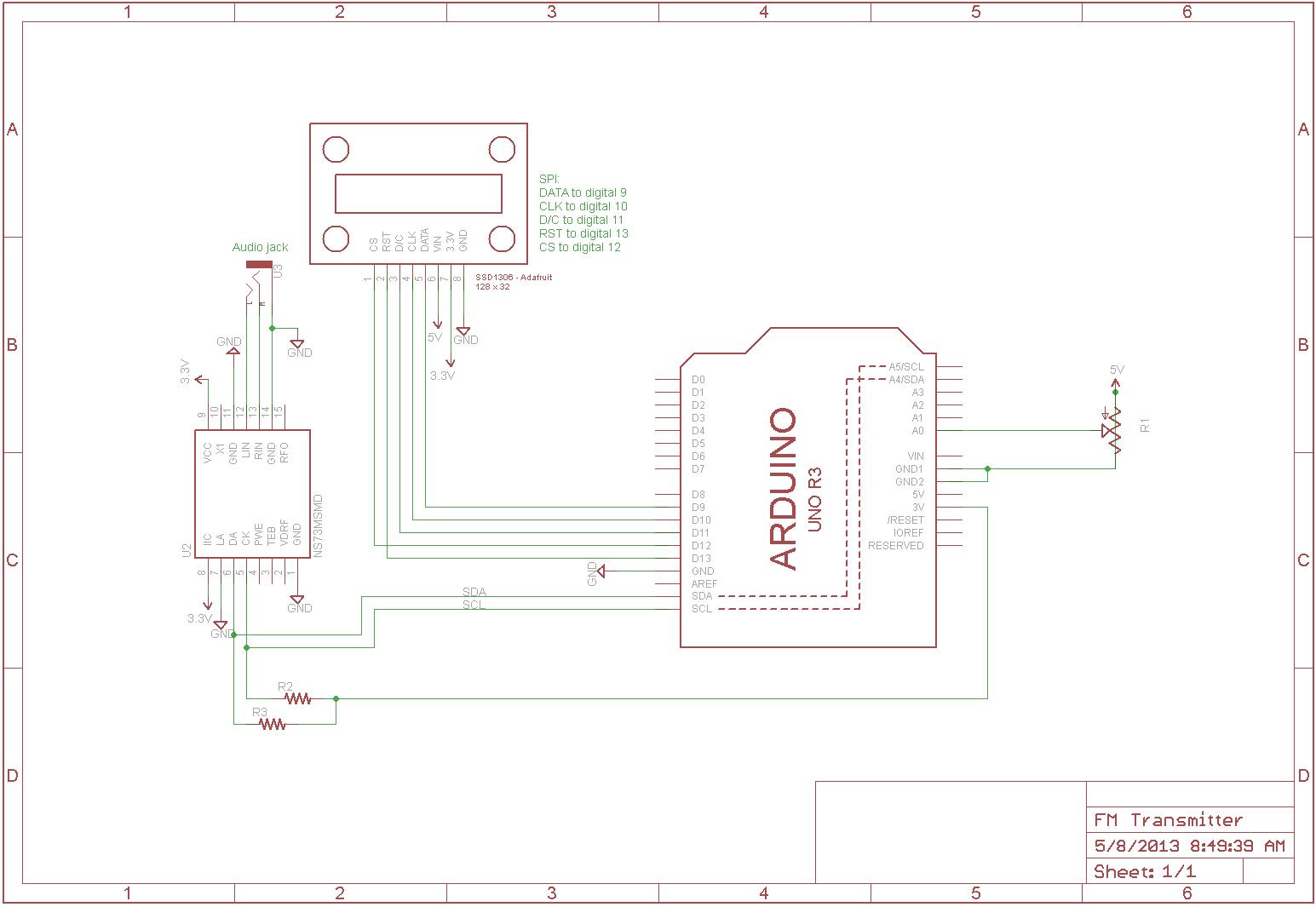 eagle schematic frame