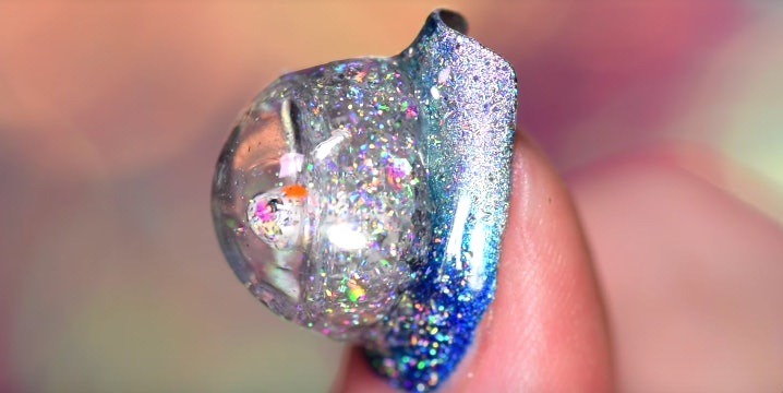 Snow Globe Nails Are Totally Unnecessary But Fabulously Extra