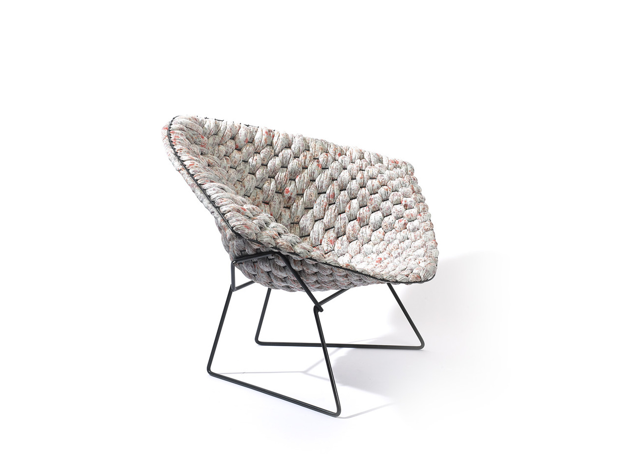 Knitted Furniture Clément Brazille Reinvents The Iconic Bertoia Chair With
