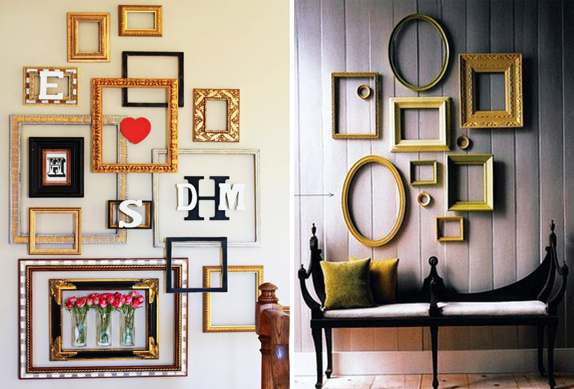 How To Decorate A Large Blank Wall 10 Imaginative And Inexpensive Ways To Frame Your Favorite