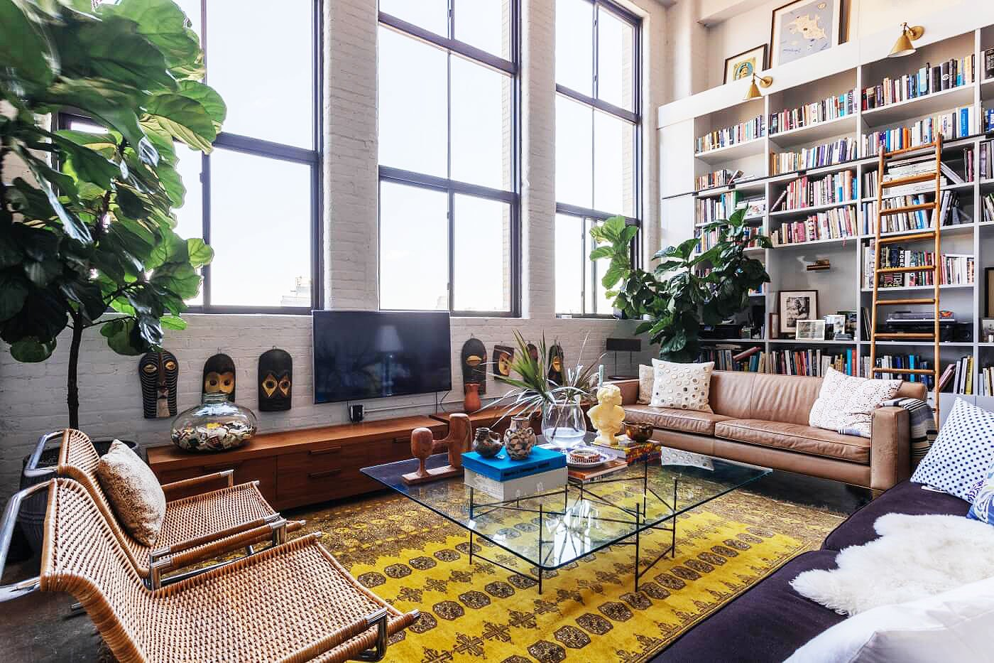 Living Room Spaces Brooklyn Design Firm Creates Dramatic Living Spaces Inside A