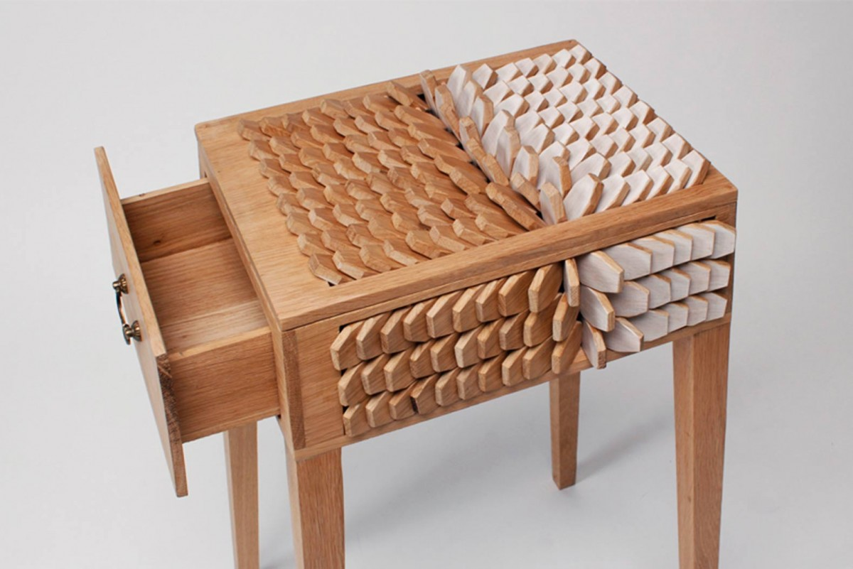 Wood Furniture Design Juno Jeon 39s Bedside Table Has Scales That Act Like A