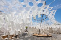 Watch MoMA PS1s solar canopy art installation get ...