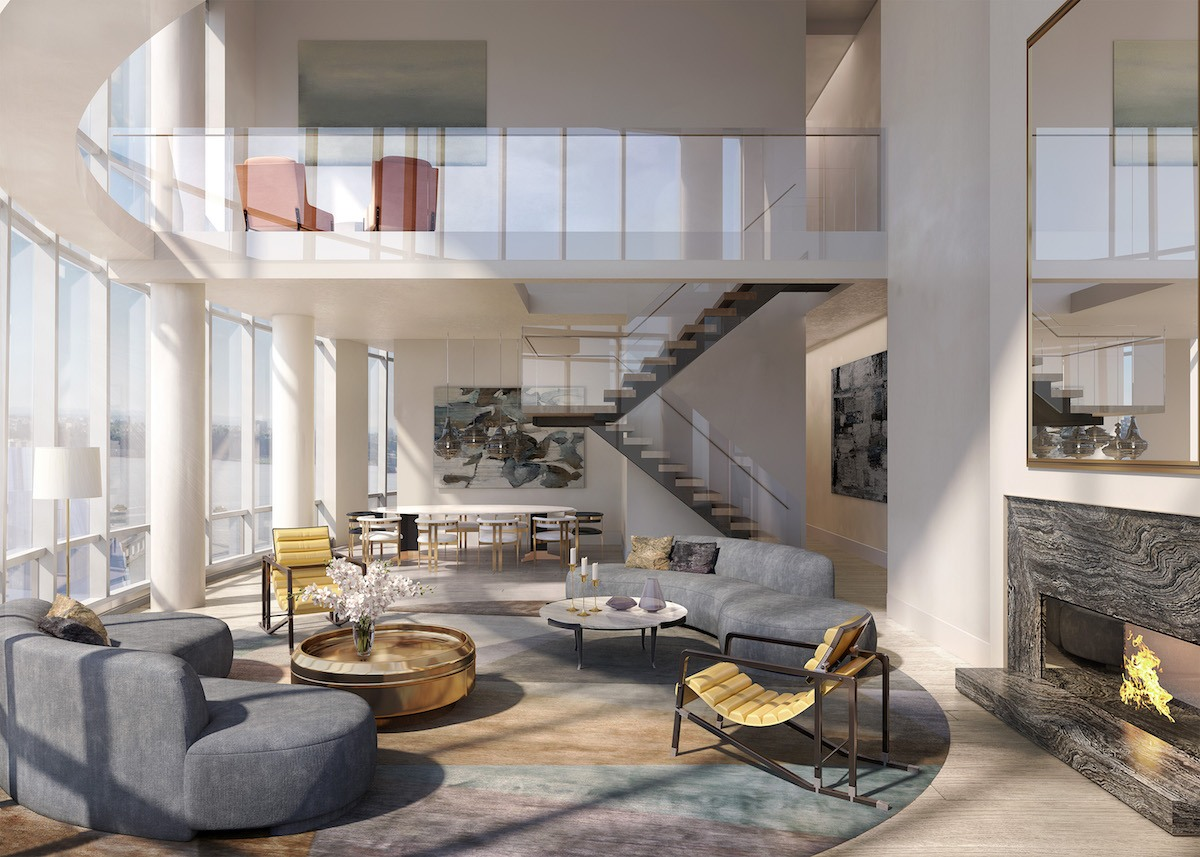 Two Floor Apartment Nyc First 15 Hudson Yards Penthouse Hits The Market For 32m