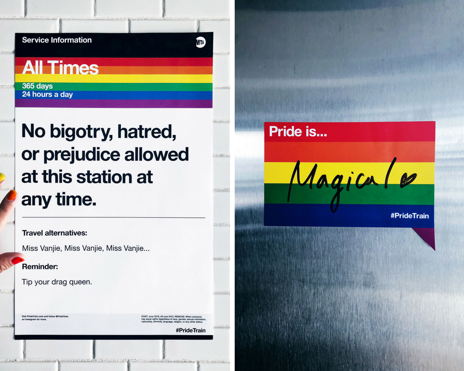 Anti-bigotry \u0027service\u0027 posters hit NYC subway stations for Pride