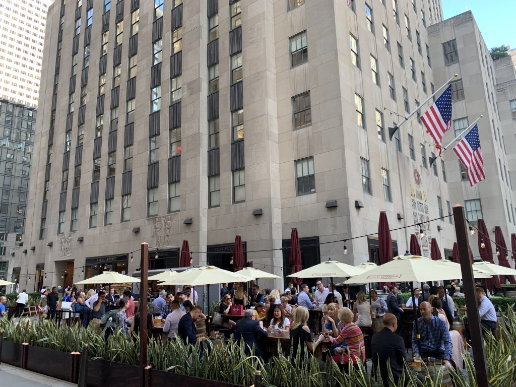 Cucina Restaurant Rockefeller Center City Winery Opens Outdoor Garden Pop Up At Rockefeller