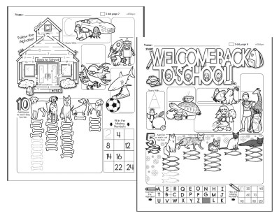 Back To School Worksheets Edhelpercom