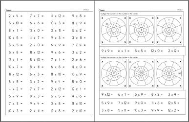 Free Multiplication Worksheets Edhelpercom