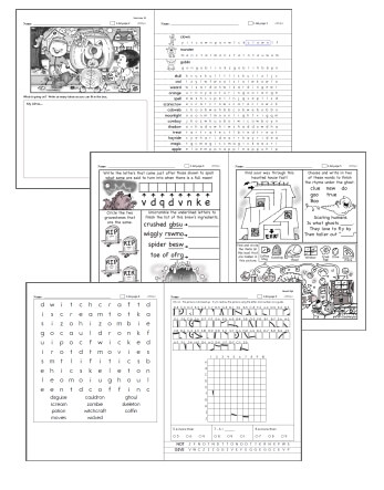 Halloween Word Searches - Worksheets, Lessons, and Printables