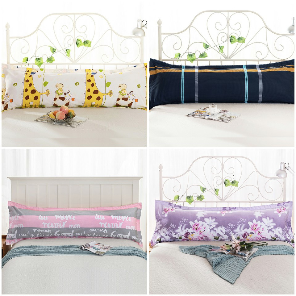 Doona Protector Cotton Floral 4 Design Body Sleep Bed Long Protector 3 Size Pillow