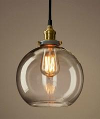 Industrial Style Vintage Pendant Light Retro Modern Glass ...