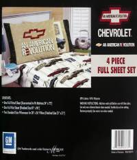 ,CHEVY CAMARO AMERICAN FULL SHEETS 4PC BEDDING SET NEW | eBay