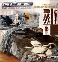 G.I. JOE COBRA TWIN COMFORTER PILLOWCASE AND MURAL 3PC ...