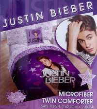 NEW JUSTIN BIEBER LOVE PURPLE TWIN COMFORTER SHEETS PILLOW ...