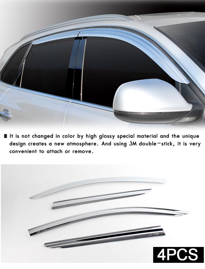 Audi 2008-2010 Q5 Chrome Sun Shade Rain Guard Door Window Visor car - presentation cover with window