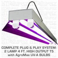 UV T5 Grow Light Fluorescent Floro T5HO High Output UV A ...