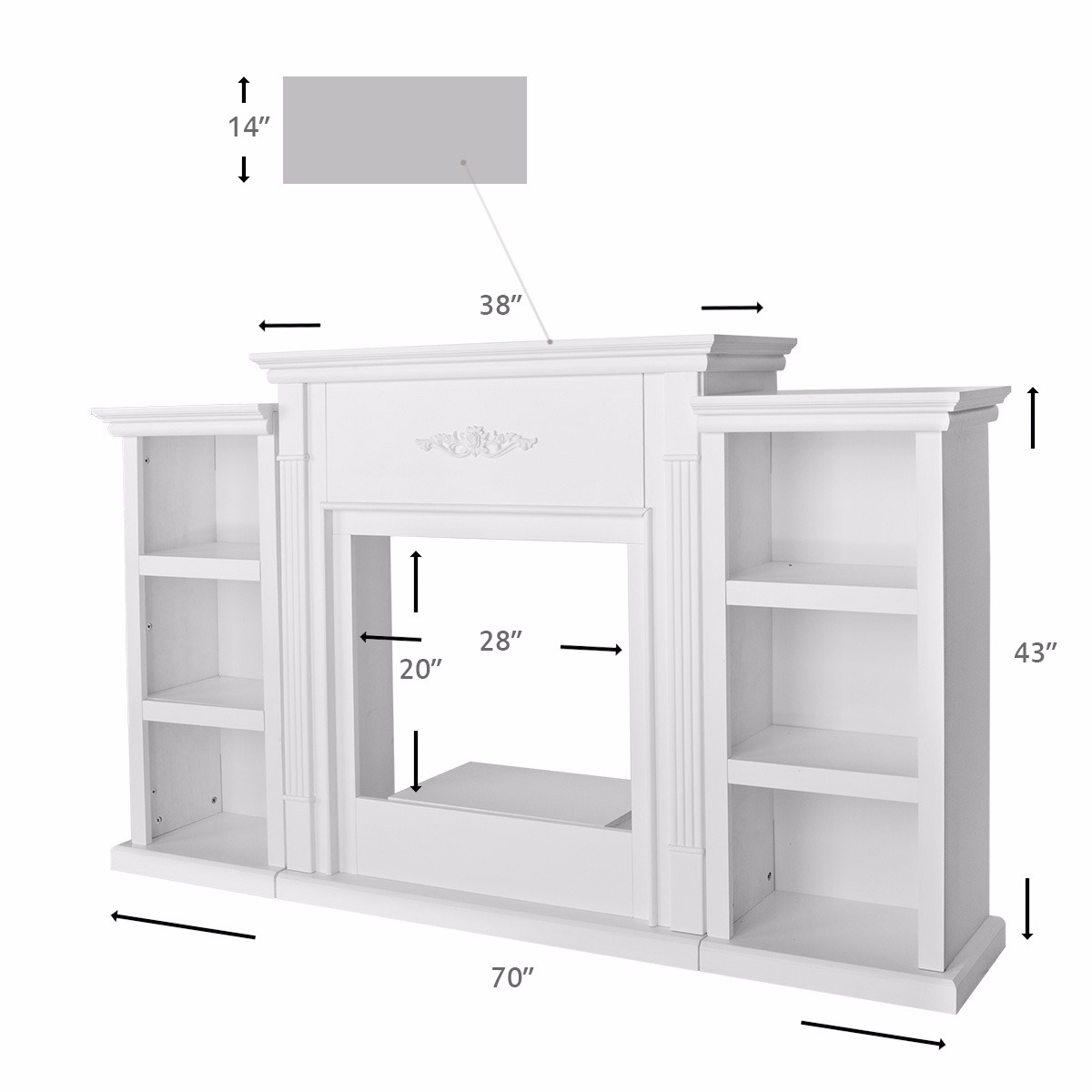 Tennyson Bookcase Electric Fireplace White Electric Fireplace With Bookcase Best Interior Furniture