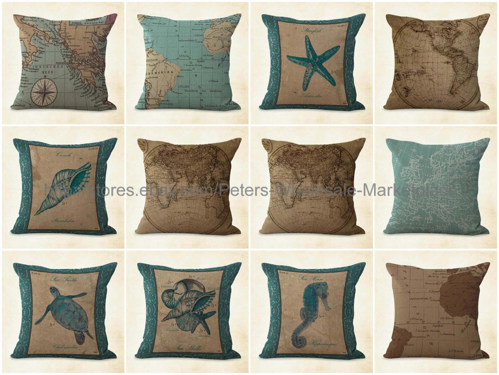 Nautical Sofa Throws Details About Us Seller 10pcs Cushion Covers Ocean Nautical Throw Pillow Case For Sofa