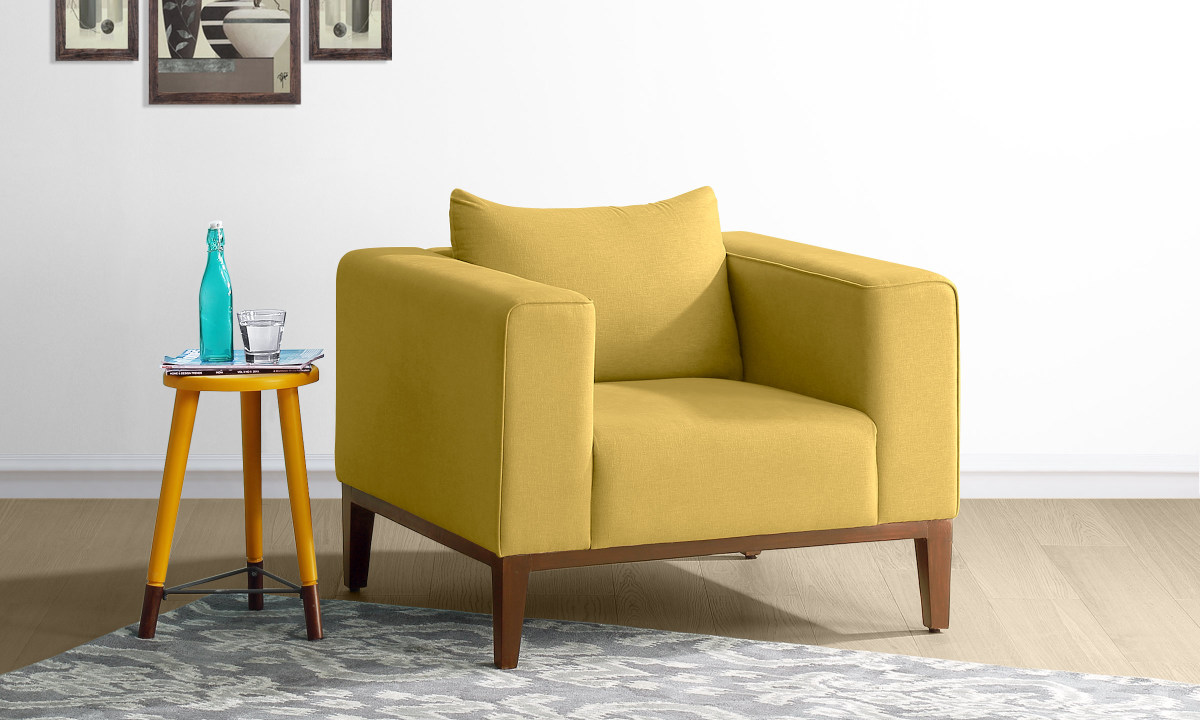Yellow Sofa Online India Single Seater Sofa Chair India Home The Honoroak