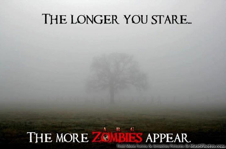 Brainy Funny Quotes Wallpapers The Longer You Stare The More Zombies Appear