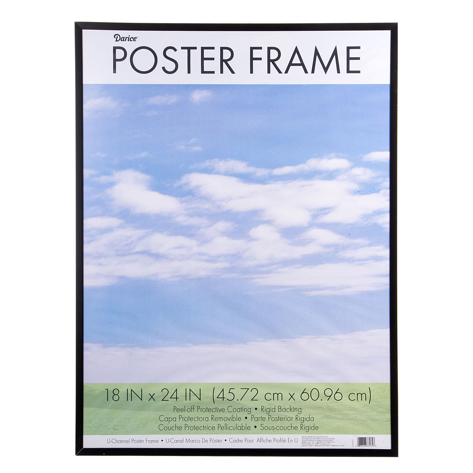 Foto 18x24 Poster Frame Black Plastic U Channel 18 X 24 Inches