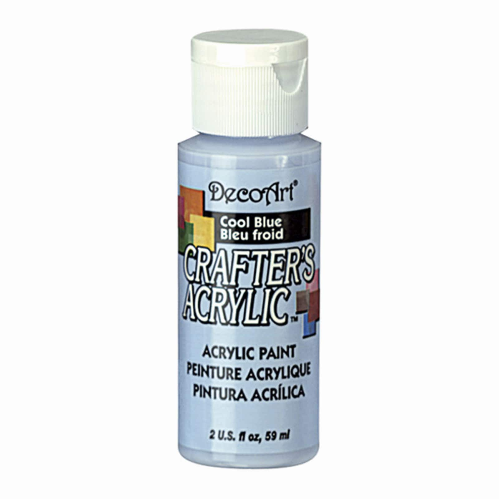 Cool Blue Paint Decoart Crafter S Acrylic Paint Cool Blue 2oz