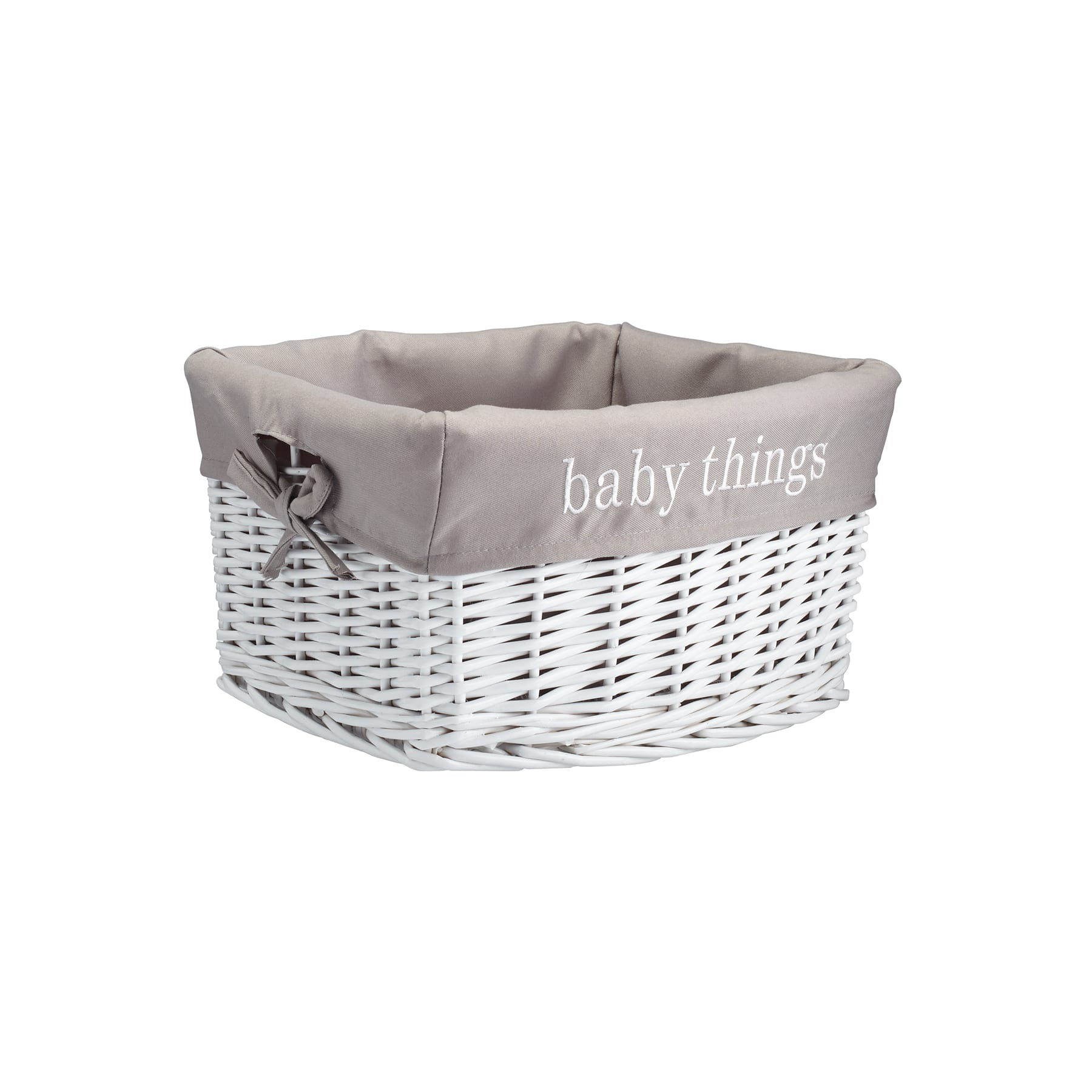 White Hamper With Liner Baby Things Quot Quot Quot Quot White Storage Basket With Liner By Ashland
