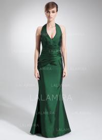 Trumpet/Mermaid Halter Floor-Length Bridesmaid Dresses ...