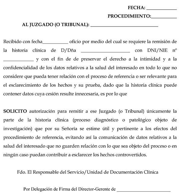 Resolución de 27/02/2009, de la Dirección Gerencia, mediante la que - formato de informe escrito