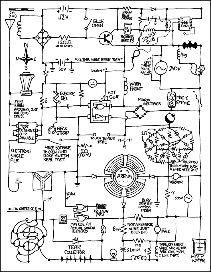 xkcd circuit diagram poster