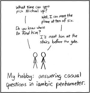 XKCD: Iambic Pentameter