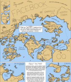 Social Map of the Internet 2010 (Quelle: http://xkcd.com/802/)