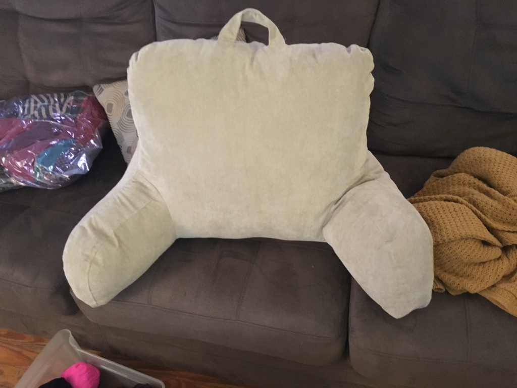 Pillow For Sitting Up In Bed Letgo Beige Reading Pillow For Bed In Stewart Va