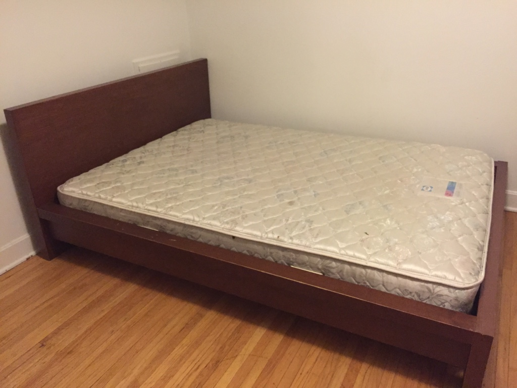 Bed Frame Calgary White Mattress And Brown Ikea Frame In Calgary Letgo