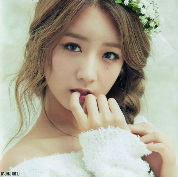 Girl With Flower Hd Wallpaper 41 Apink 尹普美
